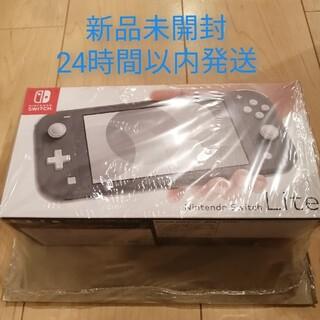 ニンテンドースイッチ(Nintendo Switch)の【新品未開封】Nintendo Switch Lite グレー 本体(携帯用ゲーム機本体)