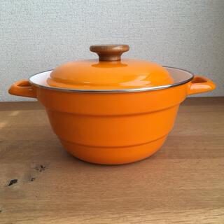 フジホーロー(富士ホーロー)の富士ホーロー オールインワン 多機能 両手鍋 オレンジ(鍋/フライパン)