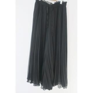 ZARA - ZARA レーススカート風ガウチョパンツ ブラック Sサイズ