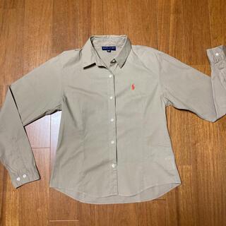 ラルフローレン(Ralph Lauren)のRALPH LAUREN  ラルフローレン シャツ 160  薄ベージュ 長袖(ブラウス)
