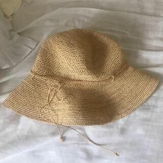 MUJI (無印良品) - ※6月中に削除予定 無印良品 ラフィア 麦わら帽子