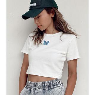 ALEXIA STAM - alexiasam アリシアスタン バタフライTシャツ