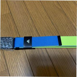 アディダス(adidas)のアディダス ベルト ゴルフ  青色 リバーシブル 新品(ベルト)
