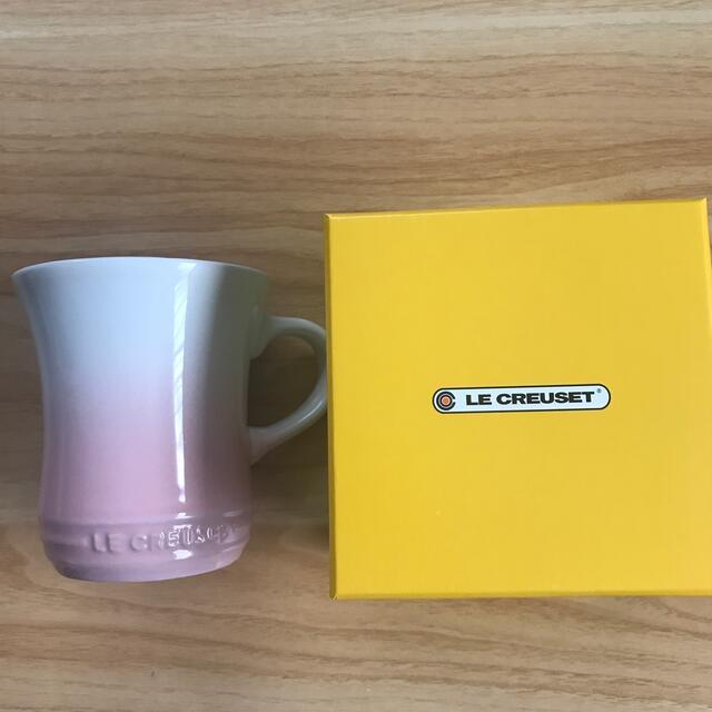 LE CREUSET(ルクルーゼ)のル・クルーゼ マグカップ ピンク インテリア/住まい/日用品のキッチン/食器(グラス/カップ)の商品写真