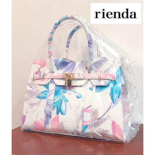 リエンダ(rienda)の新品/未使用 rienda リエンダ バッグ ハンドバッグ 花柄 トートバッグ(ハンドバッグ)
