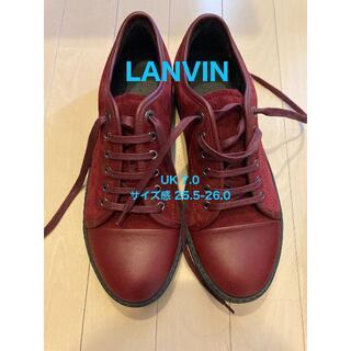 ランバン(LANVIN)の【LANVIN・新品未使用】スウェード 赤色 スニーカー(スニーカー)