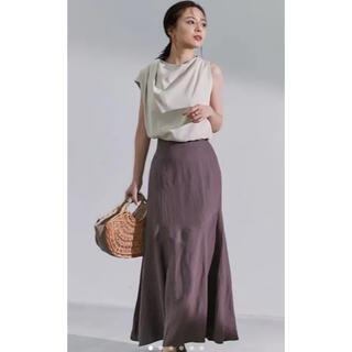 Noble - anuans リネン混マーメイドスカート ブラウン M