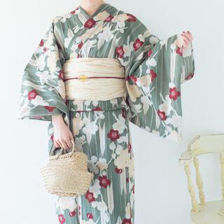 utatane 浴衣 まる 矢絣にほぐし梅(浴衣)