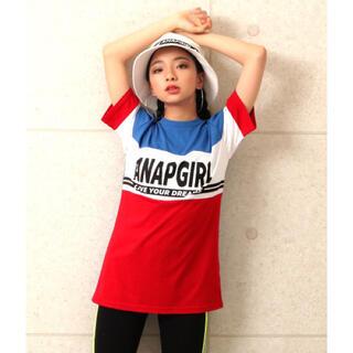 アナップキッズ(ANAP Kids)の☆ANAPGIRLS 配色切替チュニック(Tシャツ/カットソー)