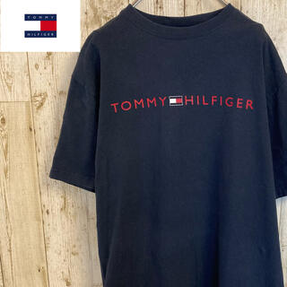 TOMMY HILFIGER - トミーヒルフィガー 90s  フラッグタグ 半袖tシャツ  プリントロゴ 古着