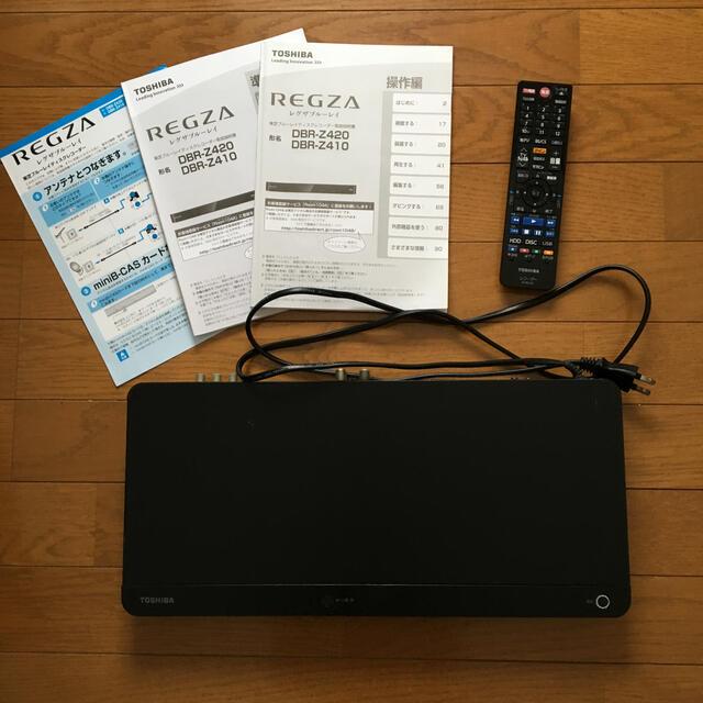 東芝(トウシバ)のブルーレイレコーダー DBR-Z410 スマホ/家電/カメラのテレビ/映像機器(ブルーレイレコーダー)の商品写真