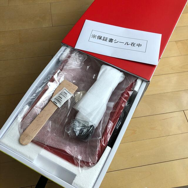 【新品未使用】ブルーノコンパクトホットプレート レッド スマホ/家電/カメラの調理家電(ホットプレート)の商品写真