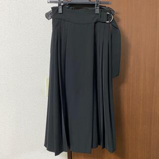 ナノユニバース(nano・universe)のnano universe 黒プリーツスカート(ひざ丈スカート)
