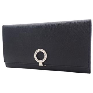 ブルガリ(BVLGARI)のブルガリ長財布 2つ折り長財布  ブラック黒 ブルー青 40800075329(長財布)