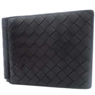 ボッテガヴェネタ(Bottega Veneta)のボッテガヴェネタ札入れ 2つ折り財布 カーフ ブラック黒 40800072611(折り財布)