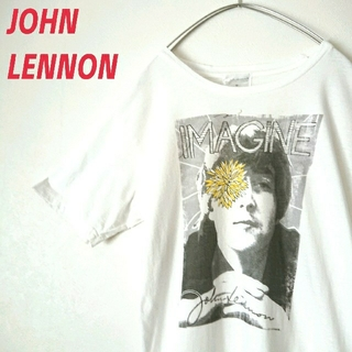 アートヴィンテージ(ART VINTAGE)のJOHN LENNON ジョンレノン 白 Tシャツ ビートルズ バンドT 古着(Tシャツ/カットソー(半袖/袖なし))