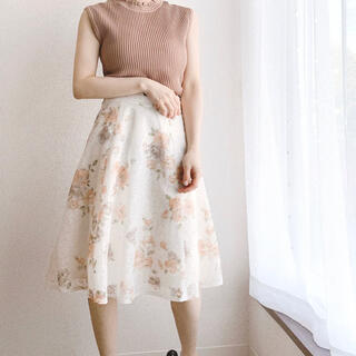 MISCH MASCH - ミッシュマッシュ 花柄プリントレーススカート
