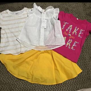 ニシマツヤ(西松屋)の女の子 夏服 セット売り(Tシャツ/カットソー)