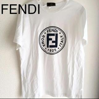 フェンディ(FENDI)のFENDI  ロゴ 白 Tシャツ ズッカ フェンディ  トップス シャツ(Tシャツ/カットソー(半袖/袖なし))