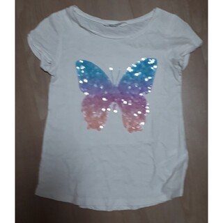 エイチアンドエム(H&M)の女児Tシャツ H&M 130綿100% スパンコール(Tシャツ/カットソー)