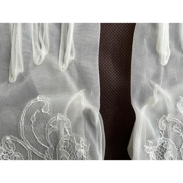ウェディング ショートグローブ レース レディースのファッション小物(手袋)の商品写真