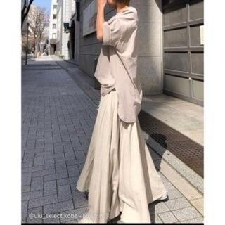 トゥデイフル(TODAYFUL)のulu 21S/S Linenrayon long flare skirt(ロングスカート)