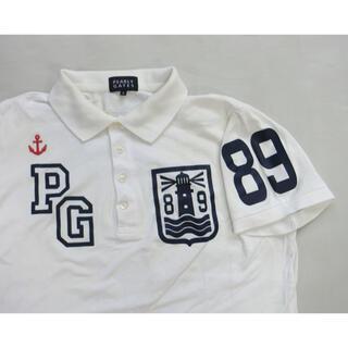 PEARLY GATES - PEARLY GATES パーリーゲイツ 白いフライス生地の半袖ポロシャツ 4