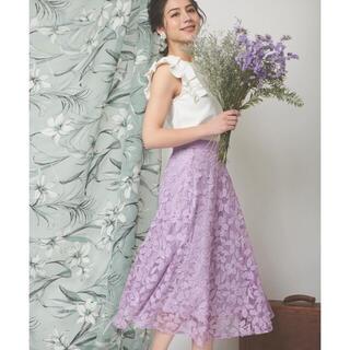 ノエラ(Noela)のNoela フラワーカッティングレーススカート(ひざ丈スカート)