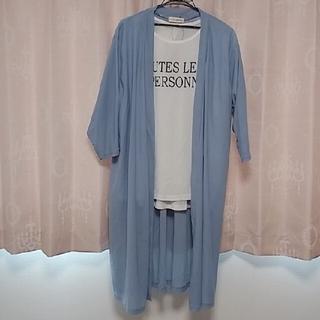 しまむら - トッパーカーディガン+Tシャツセット商品👕大きいサイズ