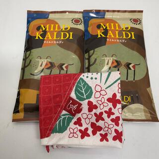 カルディ(KALDI)のカルディ マイルドカルディ 2袋         もへじエコバッグ(コーヒー)