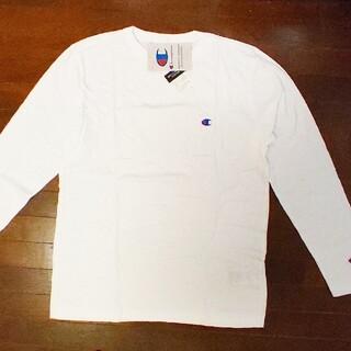 チャンピオン(Champion)のchampion 長袖Tシャツ 白(Tシャツ/カットソー(七分/長袖))