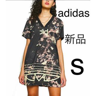 アディダス(adidas)の【新品★未使用】adidasアディダス オールオーバープリントワンピース(ミニワンピース)