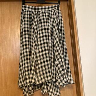 ロペ(ROPE)のマドモアゼルロペ ギンガムチェック膝丈スカート(ひざ丈スカート)