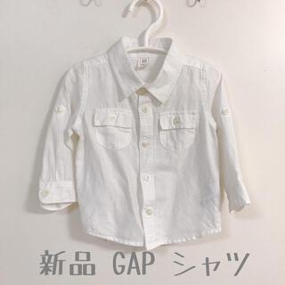 babyGAP - 新品 GAP ホワイト 80cm 薄手長袖シャツ ブラウス babyGAP
