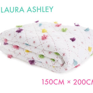ローラアシュレイ(LAURA ASHLEY)のNYLAキルト肌掛け/スプレッド/カバー 150CM × 200CM タグ付き(毛布)