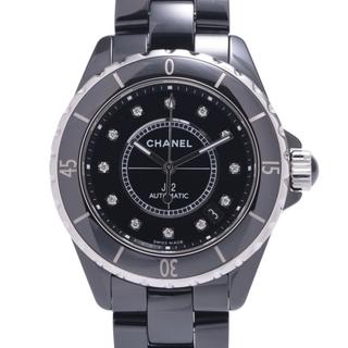 シャネル(CHANEL)のシャネル  J12 38mm 12Pダイヤ 腕時計(腕時計(アナログ))