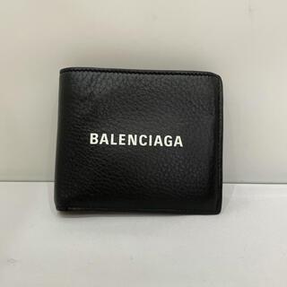 596 正規品 バレンシアガ 型式487435 二つ折り財布 コンパクト カーフ(折り財布)