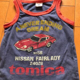 タカラトミー(Takara Tomy)の子ども110 タンクトップ トミカtomica 車Nissan クルマくるま(Tシャツ/カットソー)