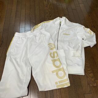adidas - adidas ジャージ 上下 ゴールド スウェット ウェア ルームウェア