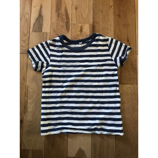 ムジルシリョウヒン(MUJI (無印良品))の無印良品 スラブボーダー 半袖Tシャツ 110センチ 男の子 キッズ(Tシャツ/カットソー)