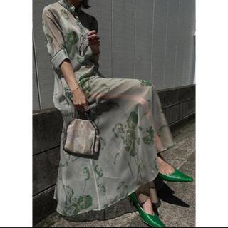 Ameri VINTAGE - Ameri vintage ISLA PIPING SHEER DRESS
