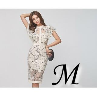 M ドレス キャバ 二次会 パーティー ドレス ミニワンピ 半袖