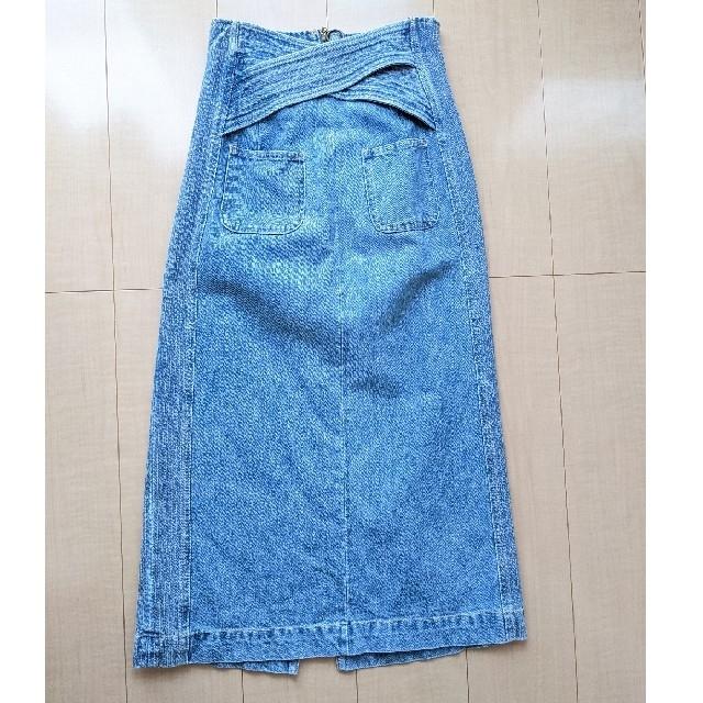 Lily Brown(リリーブラウン)のリリーブラウン バッククロスデニムスカート レディースのスカート(ロングスカート)の商品写真