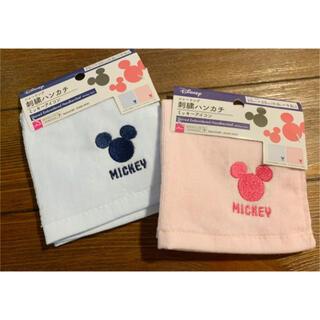 ディズニー(Disney)のディズニーミッキーマウス♡ハンカチ 2枚組(ハンカチ)