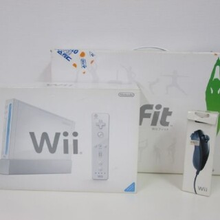 Wii - NINTENDO Wii 本体 コントローラー ヌンチャク Wii fit