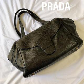 PRADA - PRADA プラダ ハンドバッグ ボストンバッグ レザー ロゴプレート 肩がけ