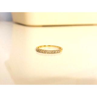 ジュエリーツツミ(JEWELRY TSUTSUMI)のK10YGダイヤモンド ハーフエタニティリング 10号(リング(指輪))