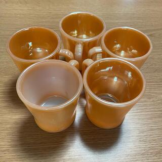 ファイヤーキング(Fire-King)のファイヤーキング Dハンドルマグカップ(グラス/カップ)