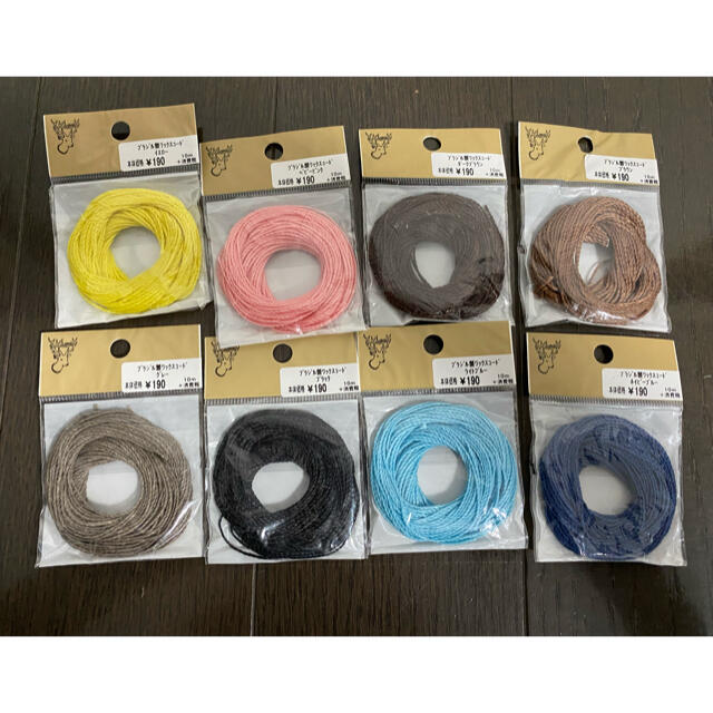貴和製作所(キワセイサクジョ)の貴和制作所 ワックスコードセット ハンドメイドの素材/材料(生地/糸)の商品写真