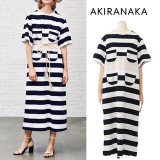mame - AKIRA NAKA Rut stripe Tee dress ワンピース